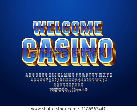 Poker moda vetro pietra finanziare Foto d'archivio © carodi