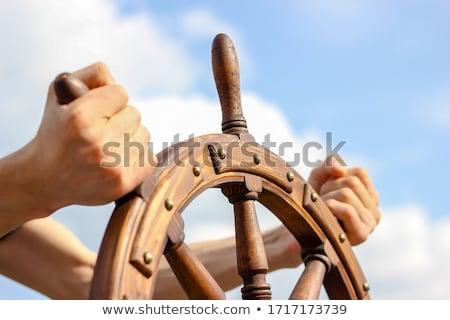 jacht · zwarte · zee · wind · wiel · vervoer - stockfoto © flipfine