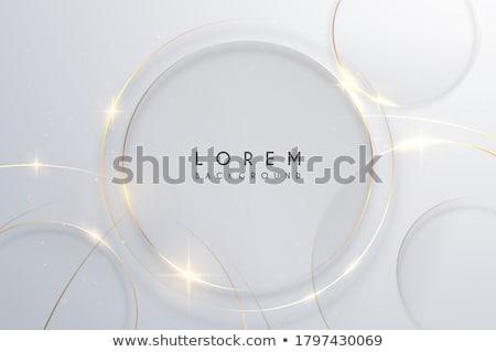 soyut · teknoloji · altın · daire · biçim · ışık - stok fotoğraf © saicle