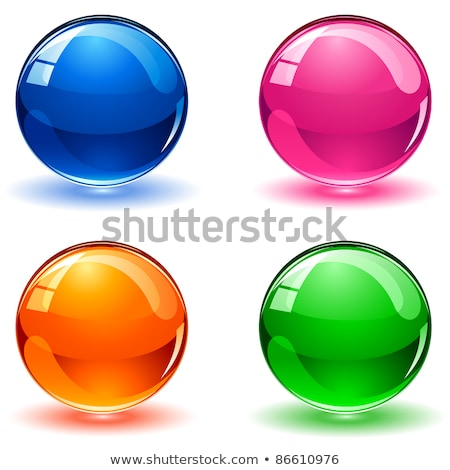 Christmas ball glass button set stock photo © aliaksandra