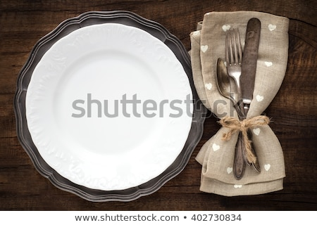 Antique place setting Stock photo © Hofmeester