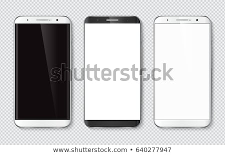 Stock photo: telephones mobile phones and devices vector icon set