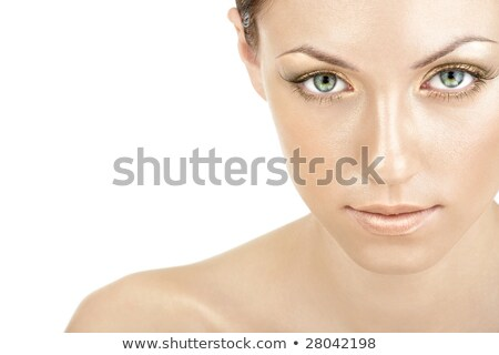 Pretty Bare Woman with Green Eyes Stock photo © dash