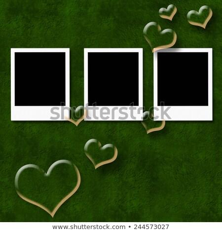 пусто · карт · красный · сердцах · изолированный · белый - Сток-фото © marimorena
