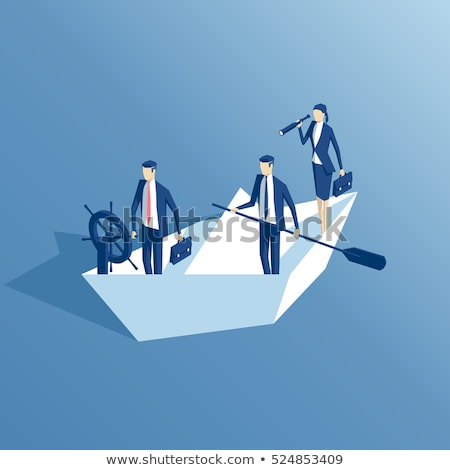 paper boat business concept stock photo © lightsource