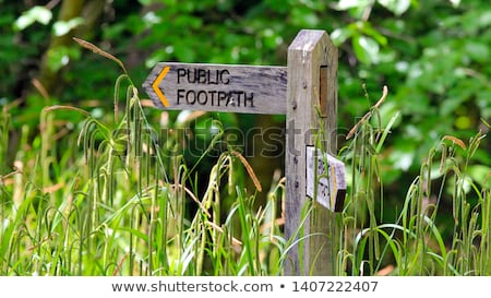 Public Footpath sign Stock photo © Hofmeester
