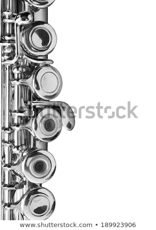 diagonal closeup treble flute Stock photo © Rob_Stark