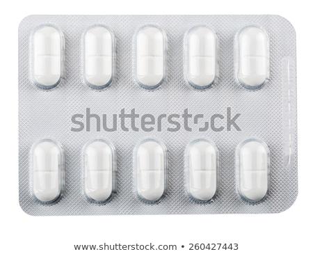 оранжевый таблетки волдырь изолированный фон больницу Сток-фото © ironstealth