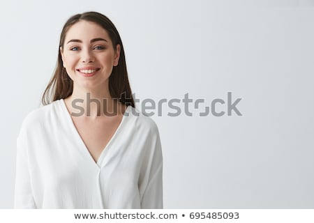 Portré mosolyog fiatal női önkéntes áll Stock fotó © wavebreak_media