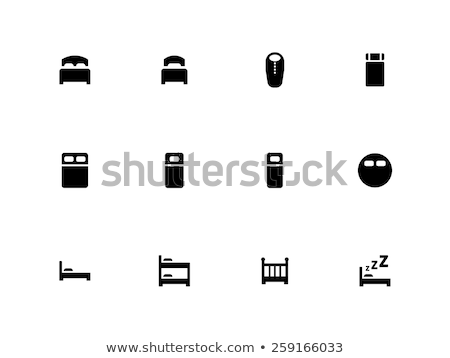full bed simple icon on white background stock photo © tkacchuk