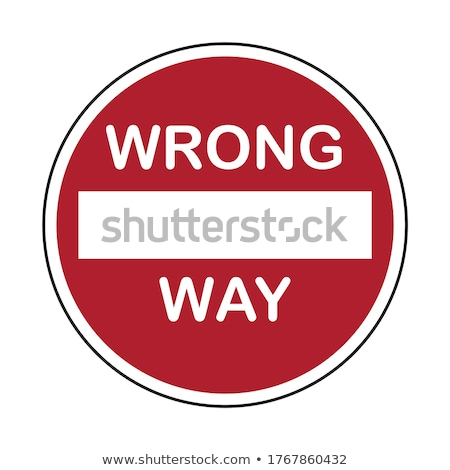 Wrong way sign at a highway Stock photo © AndreyKr