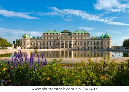 Belvedere palace in Vienna, Austria in the morning Stock photo © AndreyKr