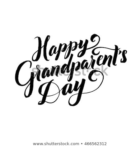 Nagyszülők nap ikonok fehér család textúra Stock fotó © logoff