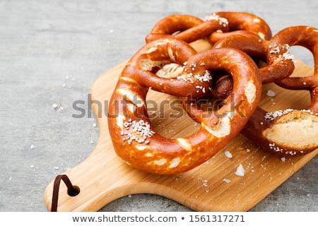 Stock photo: Salty pretzel.
