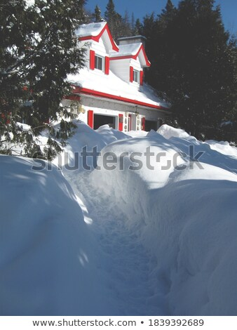 Chalet with shutters red Stock photo © mariephoto