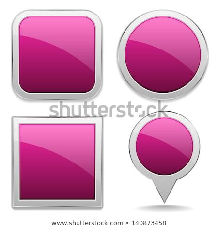 Info roze vector knop icon ontwerp Stockfoto © rizwanali3d