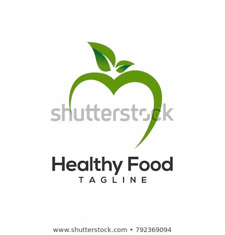 Green apple for a healthy heart, illustration Stock photo © Morphart