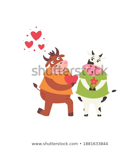 bull and cow marry Stock photo © adrenalina