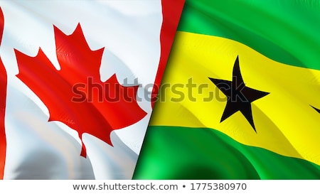 Canada and Sao Tome and Principe Flags Stock photo © Istanbul2009