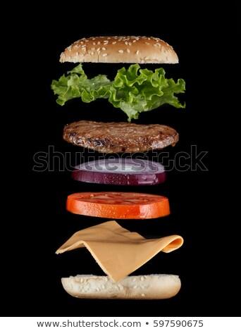 Classic Hamburger Stack Stock photo © artistrobd