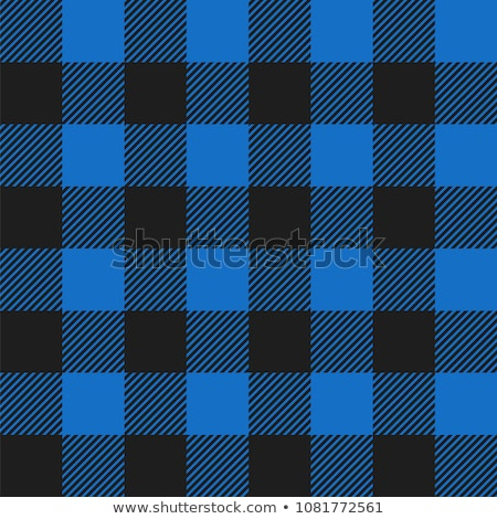 Tiled Blue and Black Flannel Pattern Illustration Stock photo © enterlinedesign