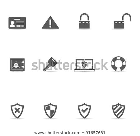 Citromsárga vektor ikon terv szolgáltatás zár digitális Stock fotó © rizwanali3d