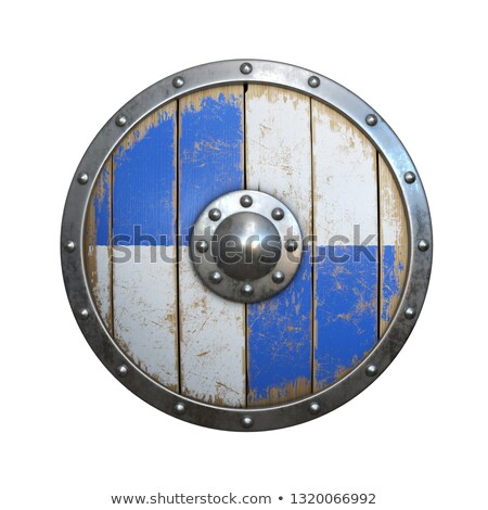 Blue crusader isolated on white Stock photo © shutswis