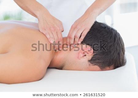 szyi · masażu · medycznych · biuro · kobieta · zdrowia - zdjęcia stock © wavebreak_media