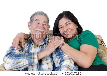 Gelukkig Mexicaanse senior glimlachend dochter snor Stockfoto © ozgur