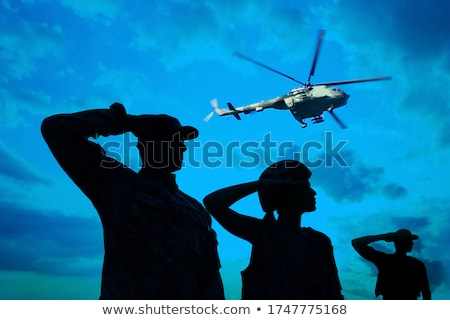 Aviator saluting Stock photo © carbouval