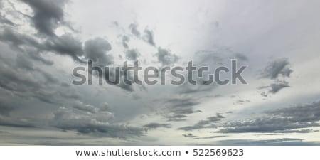 Cinza céu nuvens sol ar fresco Foto stock © cherezoff