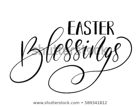 Holiday Religious Easter Lettering Stock photo © maximmmmum