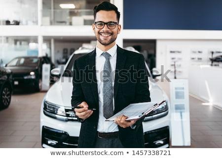 Maturité homme Auto Photo stock © Kurhan