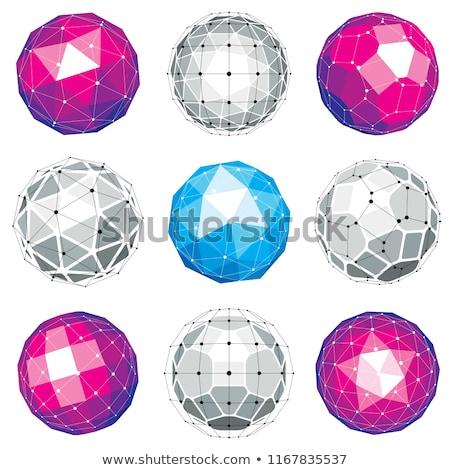 Punteggiata sferico forme illustrazione vettore Foto d'archivio © derocz