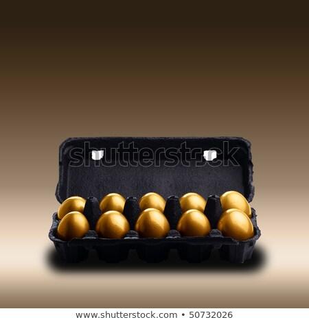 gold and black chicken eggs  Stock photo © OleksandrO