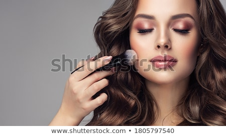 curly hair beauty makeup professional artist woman applying ha stock photo © victoria_andreas