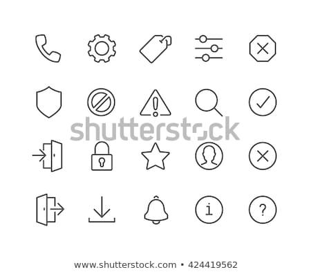 Tag with star line icon. stock photo © RAStudio