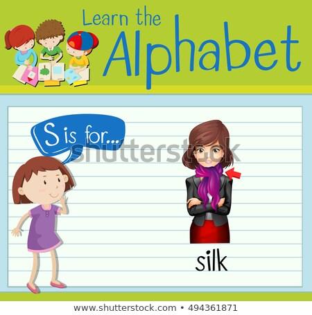 письме шелковые иллюстрация моде фон образование Сток-фото © bluering