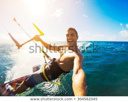 Doğa sporları su deniz okyanus atlamak eğlence Stok fotoğraf © smuki