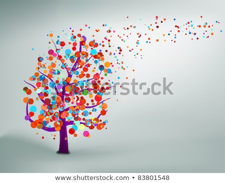 Abstract colorful tree. With copy space .EPS 8 Stock photo © beholdereye