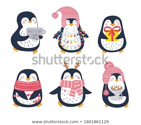 pequeno · temporadas · meninas · primavera · criança · neve - foto stock © carodi