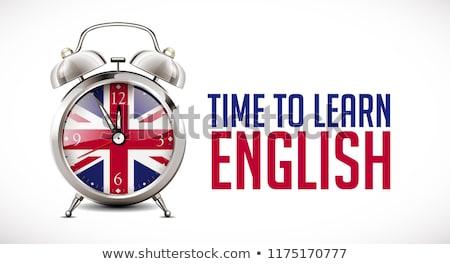 Clock and word Study Stock photo © fuzzbones0