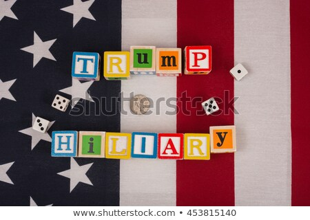 Foto stock: Republican Donald Trump Versus Democrat Hillary Clinton Running For Presidential Chair
