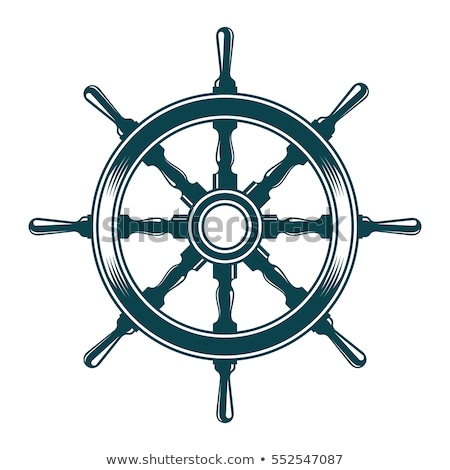 Anchor and Rudder Icon Vector Illustration Stock photo © cidepix