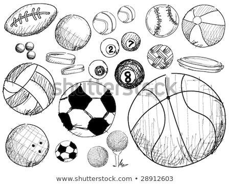 Biliárd labda rajz ikon vektor izolált Stock fotó © RAStudio