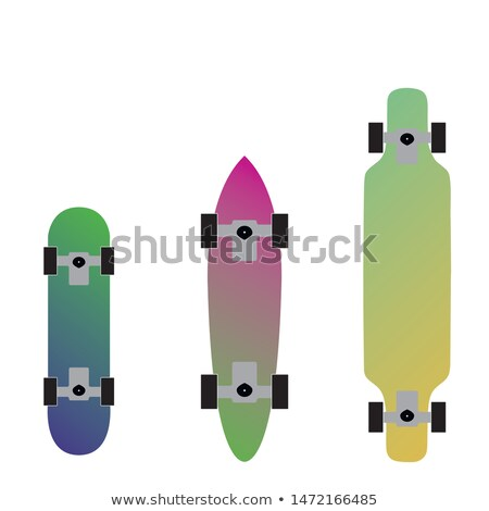 Skater with Skateboard Vector in Flat Design Stock photo © robuart