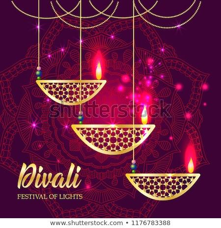 счастливым · Дивали · текста · индийской · фестиваля - Сток-фото © orensila