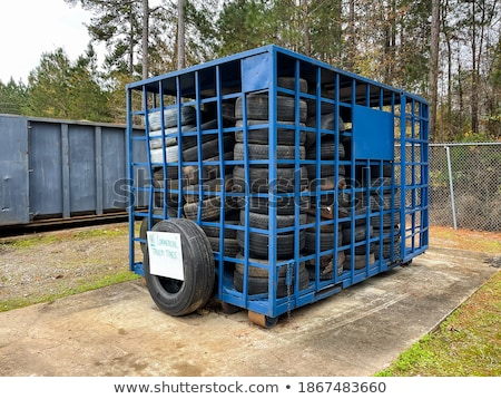 Used tire recycle bin. Stock photo © gregepperson