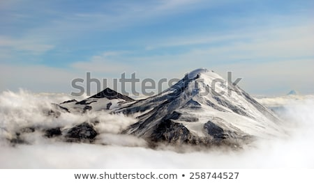 beautiful view above cloudscape and mountains Stock photo © maxmitzu