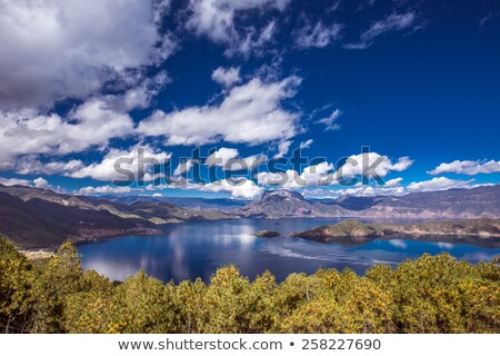 Scenery of a blue lake in Yunnan China Stock photo © bbbar